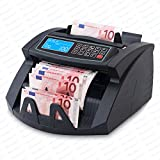 Stückzahlzähler Euro Geldscheine SR-3750 LCD UV/MG/IR von Securina24 (Schwarz -...