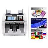 Aibecy Geldzählmaschine Automatische Stückzahlzähler LCD Bildschirm mit UV MG IR...