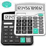Taschenrechner, Splaks 2 Pack 12-stellig Standard Funktion Tischrechner Bürorechner...