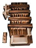 Magische Geschenkbox aus Holz Geld Geschenk Verpackung Rätselbox groß 2 geheime...