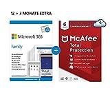 Microsoft 365 Family 12+3 Monate Abonnement   6 Nutzer   Mehrere PCs/Macs,...