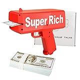 ValueTalks Geld Pistole Money Gun Geldpistole Spielzeug Cash Gun Spritzpistole für...