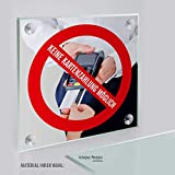 Schild: Nur Barzahlung, Keine Kartenzahlung Kreditkarten möglich | Acrylglasplatte