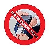 WIRKSAMWERBEN Aufkleber: Nur Barzahlung, Keine Kartenzahlung Kreditkarten möglich -...