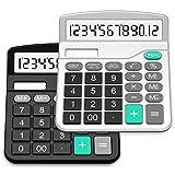 SPLAKS Taschenrechner 2 Pack 12-stellig Standard Funktion Tischrechner Bürorechner...