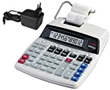 Genie D69 Plus Druckender Tischrechner (Netzteil, 12-stelliger Rechner, rot und...