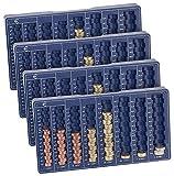 PEARL Münzsortierer: 4er-Set Euro-Münzbretter für alle Euro- und Cent-Münzen...